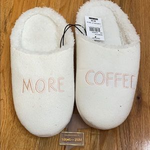 White Slippers NWT
